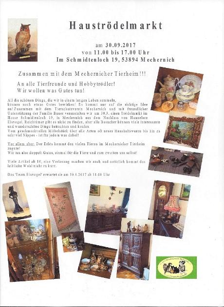 Tierschutzverein Mechernich - Hauströdelmarkt